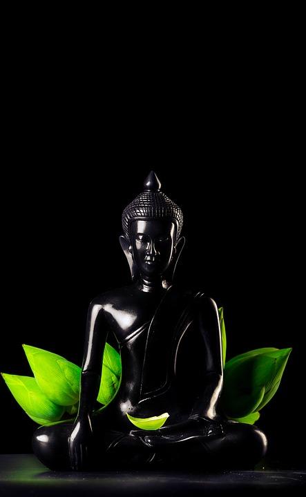 Статуэтка черного Будды
