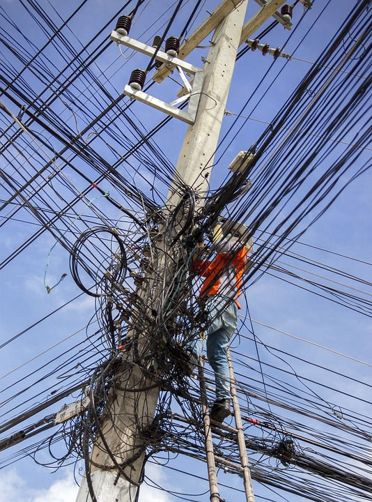 Сеть проводов в Таиланде