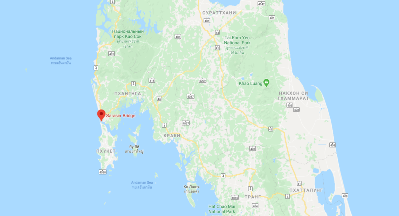 Мост Сарасин на карте Google