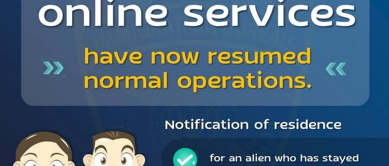 Иммиграционное бюро снова доступно онлайн
